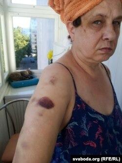 Марина Поликарпова после задержания