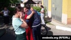 Встреча около Могилевского изолятора временного содержания