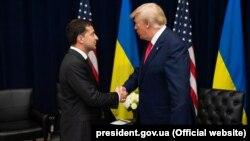 Владмир Зеленский и Дональд Трамп, 25 сентября 2019