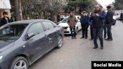 Поврежденный автомобиль Тофига Ягублу