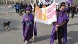 """Националисты из организации """"Кырк Чоро"""" требуют отставки мэра Бишкека после марша за права женщин 8 марта"""