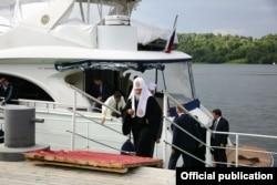 Патриарх прибыл в Плес, 2015 год