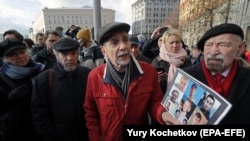 Лев Пономарев на акции протеста в Москве