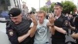 Задержания людей на марше за Ивана Голунова 12 июня в Москве