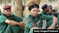 Бойцы РЕНАМО, воевавшие в Мозамбике при поддержке режима непризнанной Родезии