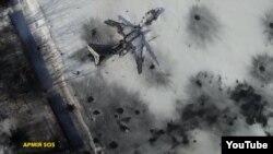 Съемка разрушений аэропорта в Донецке