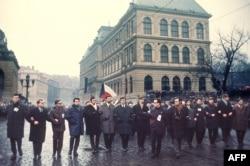 Похороны Яна Палаха в Праге в 1969 году