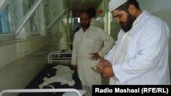 Жертвы землетрясения в госпитале в Джелалабаде (Пакистан)