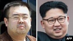 Ким Чен Нам (слева) и Ким Чен Ын (справа)