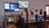 """Tajikistan, Sughd region, '7 Star"""" TV studio,14March2017"""