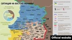 Ситуация на Донбассе, 21 января 2015г.