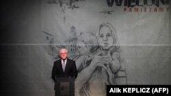 Президент Германии Франк-Вальтер Штайнмайер во время речи в польском городе Велюнь. 1 сентября 2019 года