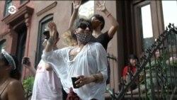 Социально-дистанцированные танцы в масках