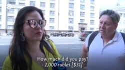 Moscow Tourists Say Taxis Took Them For A Ride