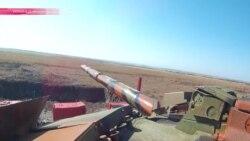 """В """"ДНР"""" прошли соревнования по танковому биатлону"""