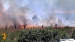 В Ботаническом Саду Еревана произошел пожар