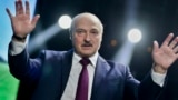 BELARUS -- Belarusian President Alyaksandr Lukashenka gestures as he addresses a women's forum in Minsk, September 17, 2020 - AP