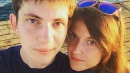 Belarus -- political prisoner Ihar Losik and his wife Daria Losik