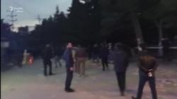 Протесты на площади Имама Хусейна в Нардаране (Азербайджан)
