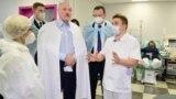 BELARUS -- Belarusian President Alyaksandr Lukashenka visits the City Clinical Hospital Number 6 in Minsk, November 27, 2020