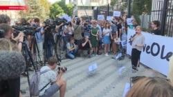 В Киеве читали письма Сенцову
