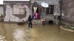 Потоп в Апшеронском районе Азербайджана 3 октября после сильных дождей