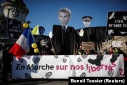"""Протесты против """"закона о глобальной безопасности"""" в Париже"""