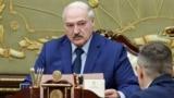 BELARUS -- Belarusian leader Alyaksandr Lukashenka speaks during a meeting in Minsk, September 6, 2021