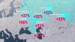 Как выросла смертность в регионах России во время эпидемии