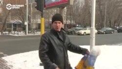 В Казахстане задержали адвоката на пикете за права ЛГБТ