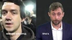 Алексей Садомовский на акции памяти нижегородской журналистки Ирины Славиной