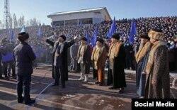 A theatrical performance for Sadyr Japarov's 2021 presidential campaign