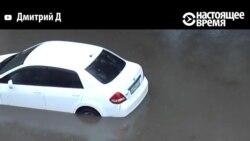 Наводнение в Красноярске: воды - по крышу автомобилей