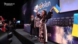 Джамала празднует победу на Евровидении