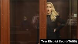 Анастасия Васильева в Тверском районном суде во время избрания меры пресечения, 29 января 2021 года. Фото: ТАСС