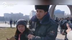 Как в Бишкеке напали на участниц феминистского марша, а полиция задерживала самих женщин, а не нападавших