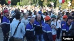 "Сотрудники ""Гродно Азота"" на забастовке"