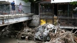 CRIMEA -- The consequences of the flood in Yalta. Yalta, Ukraine, June 23, 2021