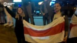 """Что происходит возле универсама """"Рига"""" в Минске вечером 13 августа"""