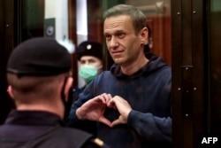 Алексей Навальный, февраль 2021 года. Фото: пресс-служба Мосгорсуда via AFP