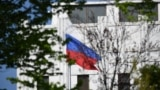 U.S. - The Russian flag flies at the embassy's compound in Washington, DC, on April 15, 2021.