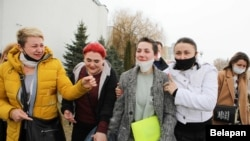 Александра Потрясаева после судебного процесса