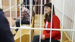 Артем Сорокин и Катерина Борисевич в суде, 19 февраля 2021 года