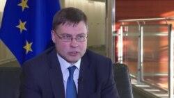 Вице-председатель Еврокомиссии Валдис Домбровскис о влиянии России на выборы в Европарламент