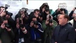"""""""Ты засиделся"""". Активистка FEMEN попыталась помешать Берлускони проголосовать"""