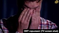 Роман Протасевич во время съемок в передаче государственного белорусского канала ОНТ