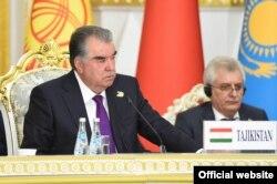 Tajik President Emomali Rahmon hosts international talks in the Tajik capital, Dushanbe, in September 2021 on how to respond to the crisis in Afghanistan, Tajikistan's southern neighbor.