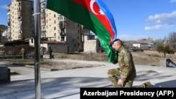Президент Азербайджана Ильзам Алиев в Шуше, древней столице Карабаха