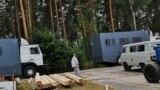 Лагерь, в котором содержались арестованные участники протестов в Беларуси, созданный на месте ЛТП №3 под Слуцком