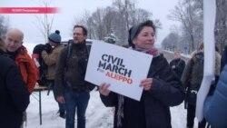 От Берлина до Алеппо: активисты идут 3,5 тысячи км пешком по дороге сирийских беженцев
